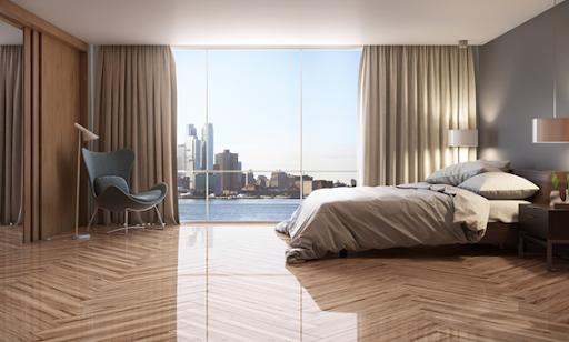 piso de madeira polido
