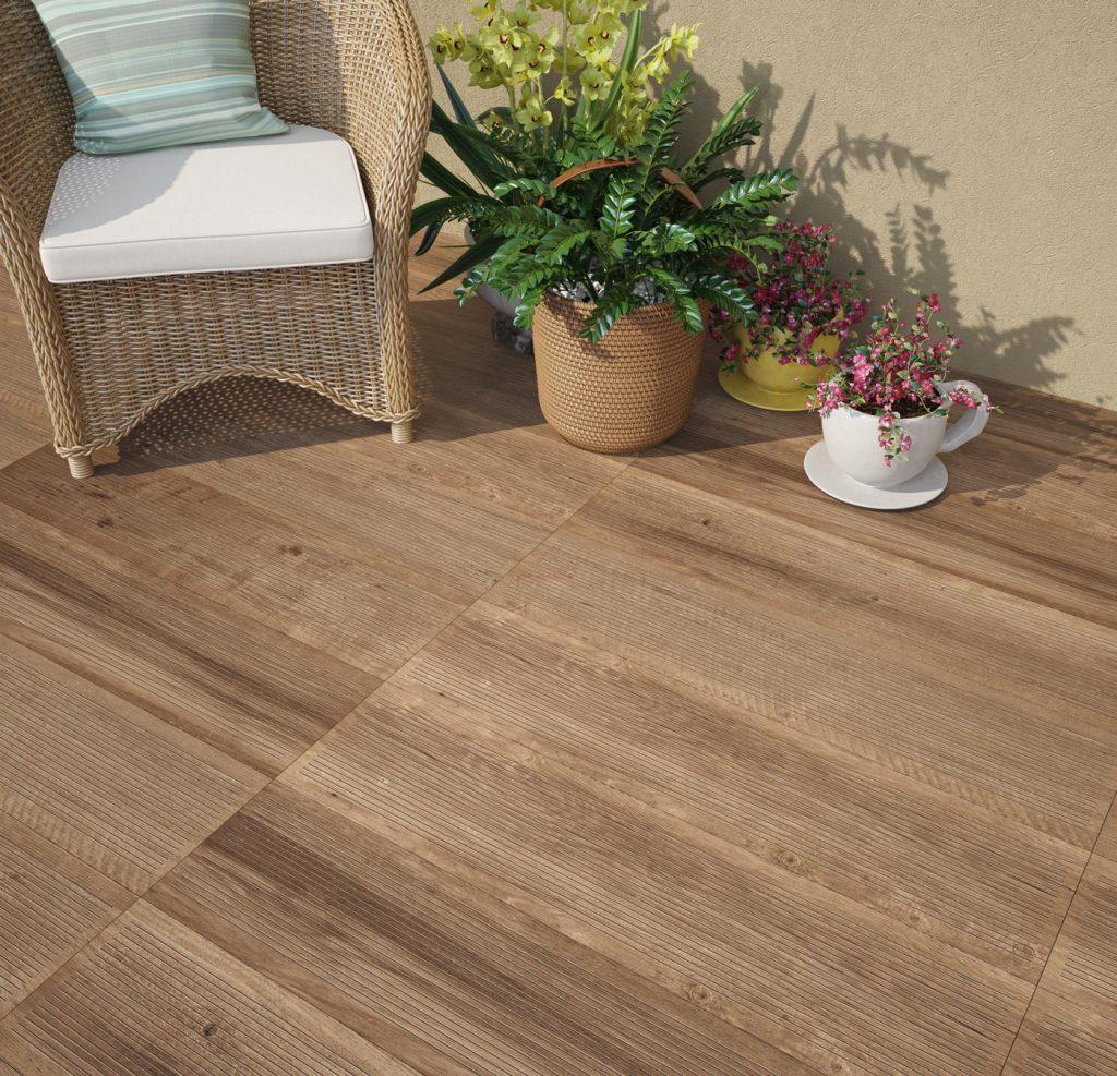 piso de madeira rústico