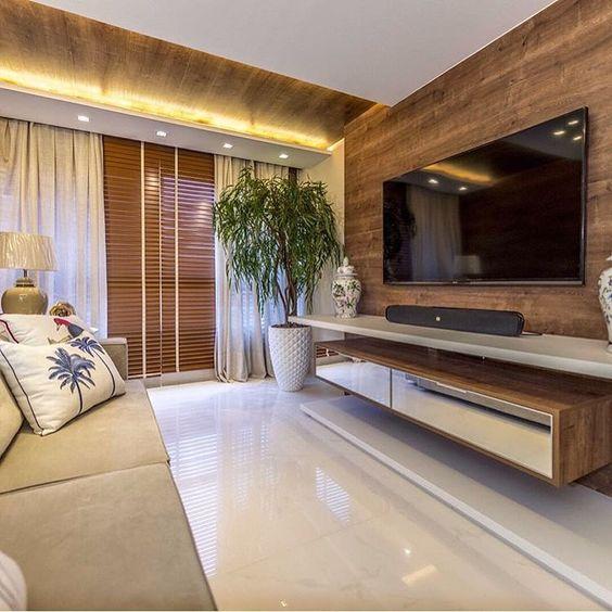 piso polido e madeira