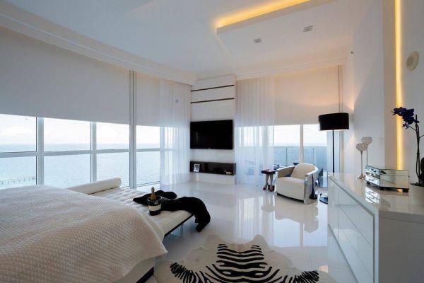 piso branco interno