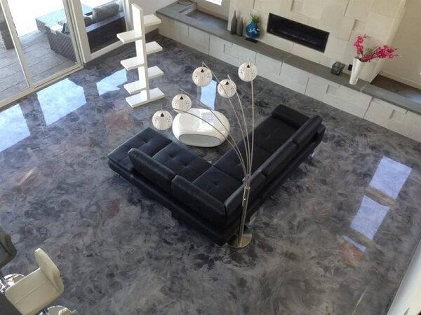 porcelanato líquido marmorizado