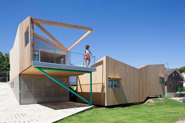 casa diferenciada de madeira