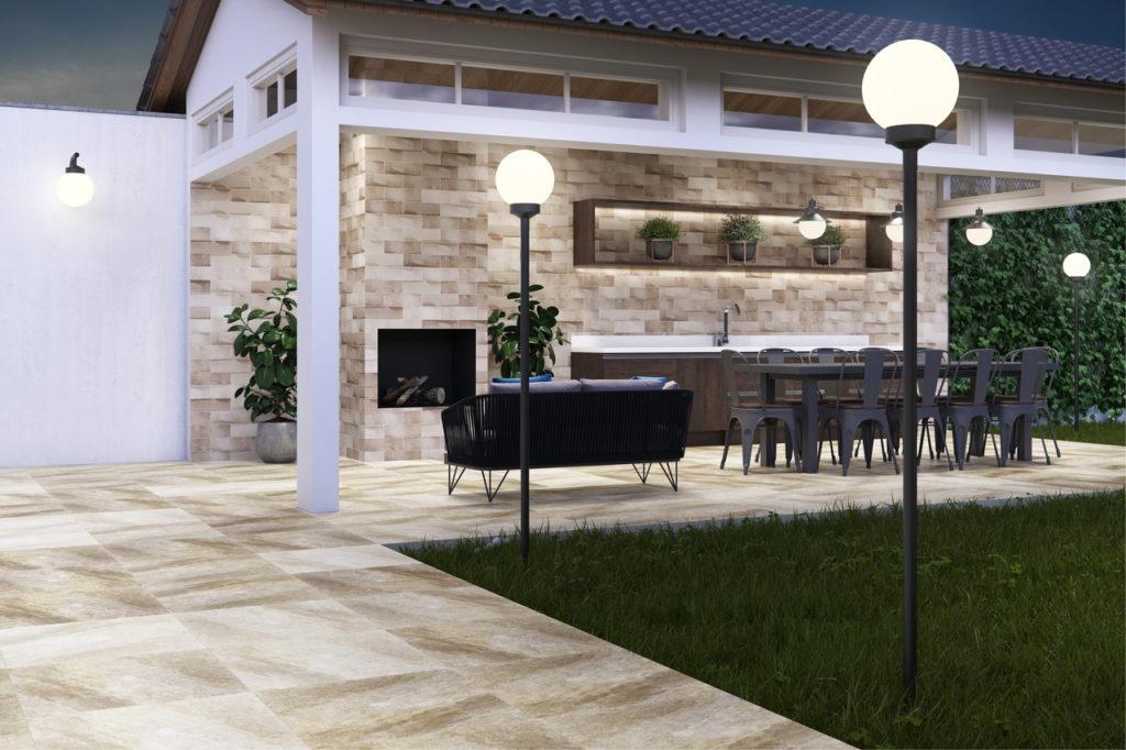 piso externo para cozinha