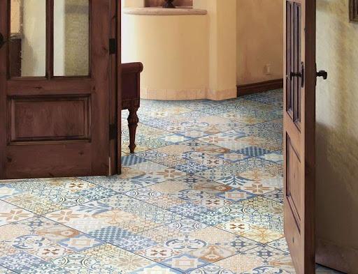 piso decorado para cozinha