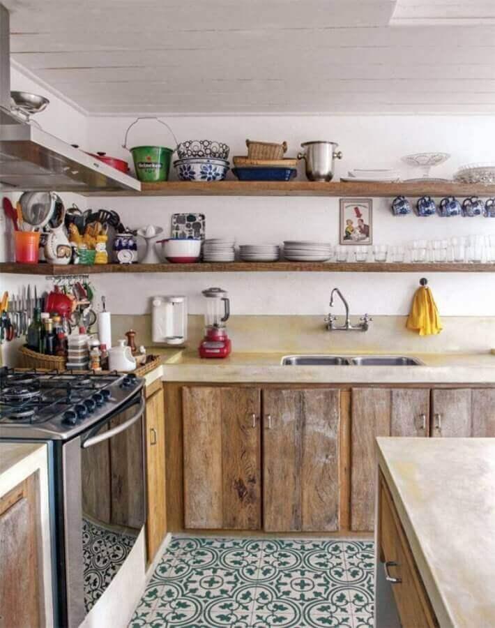 modelo de cozinha rustica