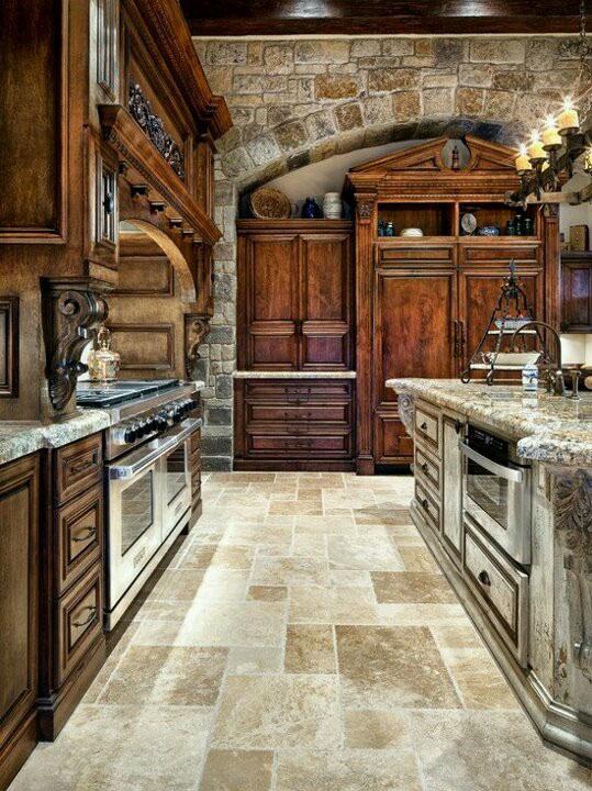piso rustico para cozinha