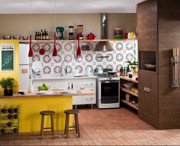 piso ladrilho para cozinha