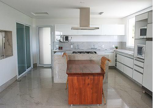 piso esmaltado para cozinha