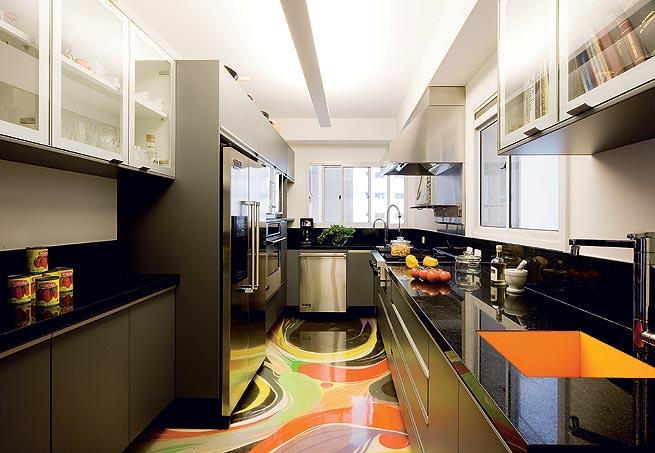 piso abstrato colorido