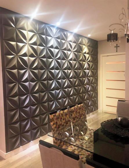 parede decorativa cinza