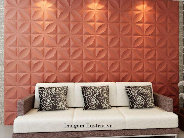 sala com decoração na parede