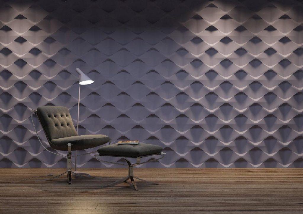 painéis de gesso 3D parede com profundidade