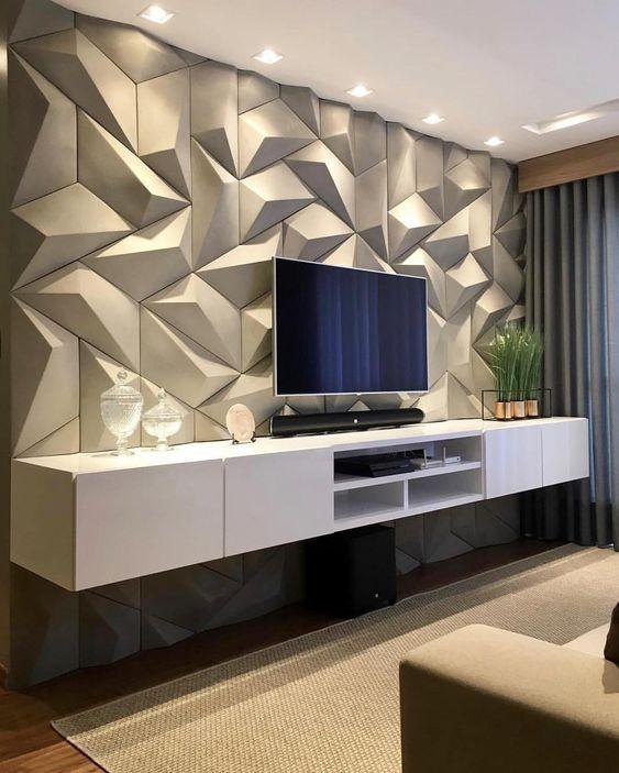sala de tv decorada