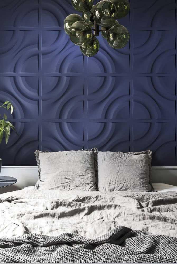 parede tom de azul
