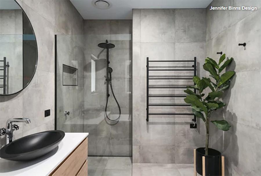 banheiro cinza moderno