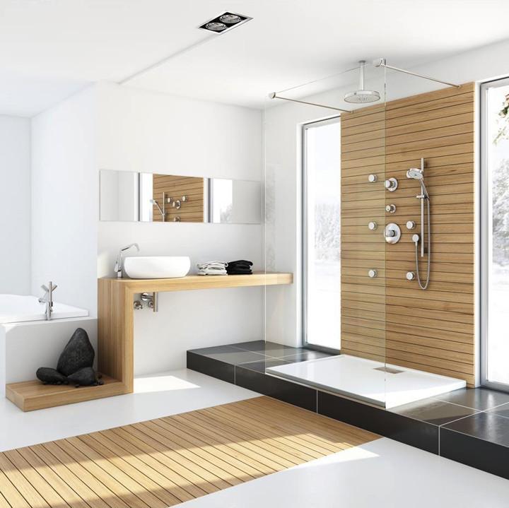 decoração moderna com madeira