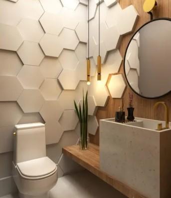 piso 3D para banheiros