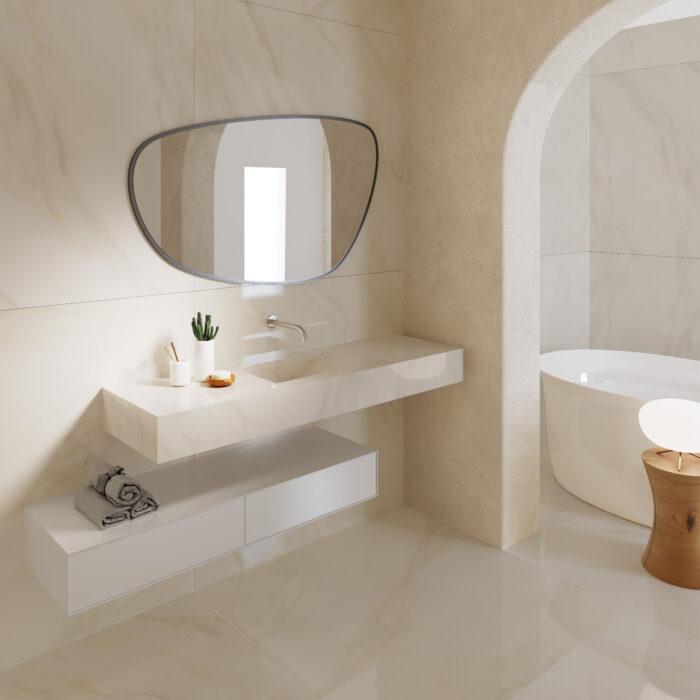 banheiro nude simples