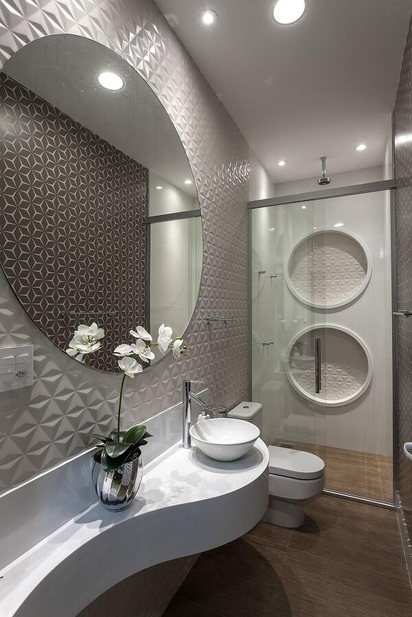 banheiro com revestimento 3d