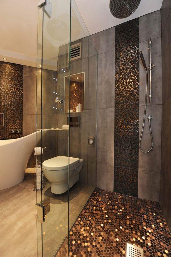 pastilha e revestimento cerâmica para banheiro