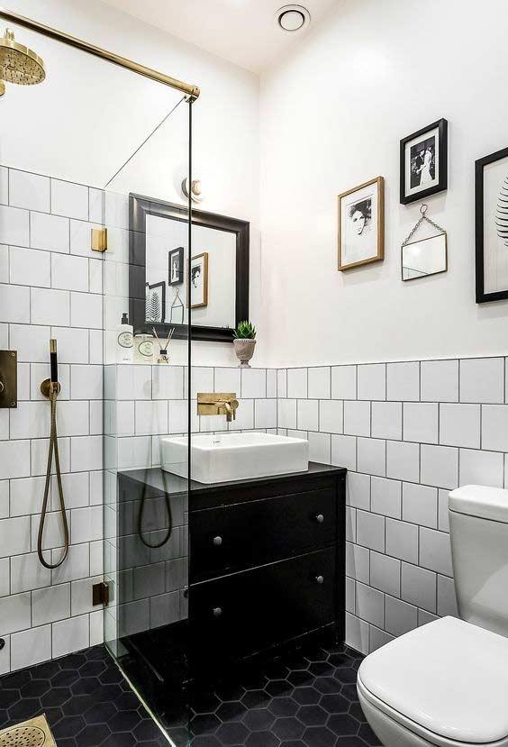 banheiro com piso cerâmica para banheiro