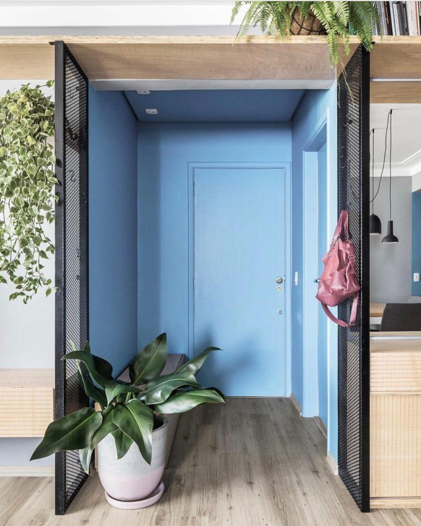 porta para decoração azul