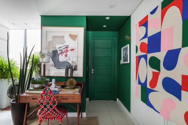 apartamento decorado verde