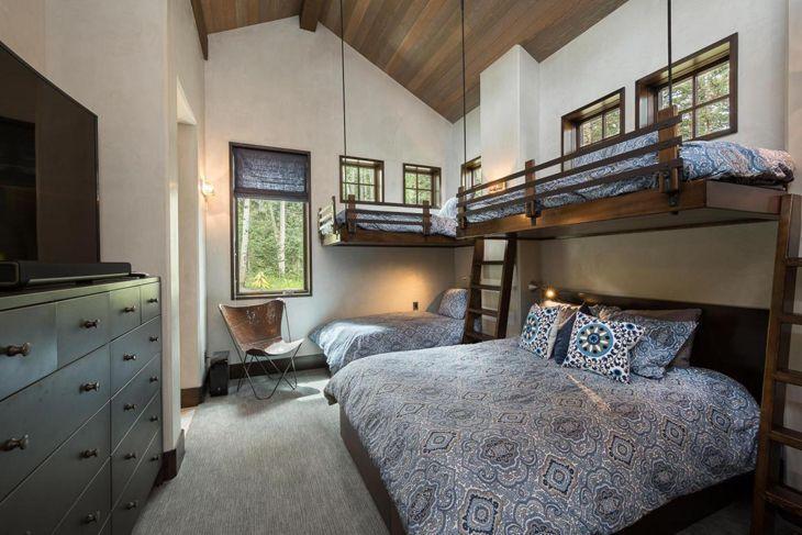 ideia de quarto com 4 camas