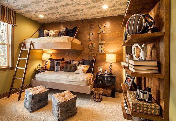 decoração rústica para quarto