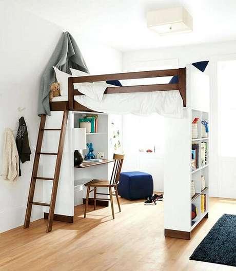 quarto com decoração Modelos de camas suspensas