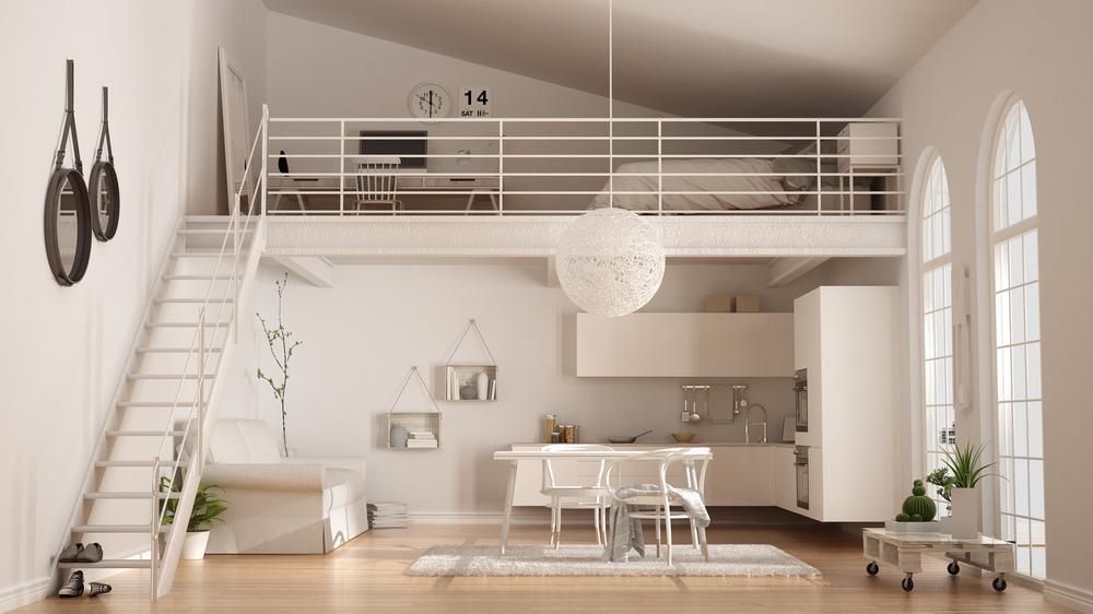 decoração moderna de loft