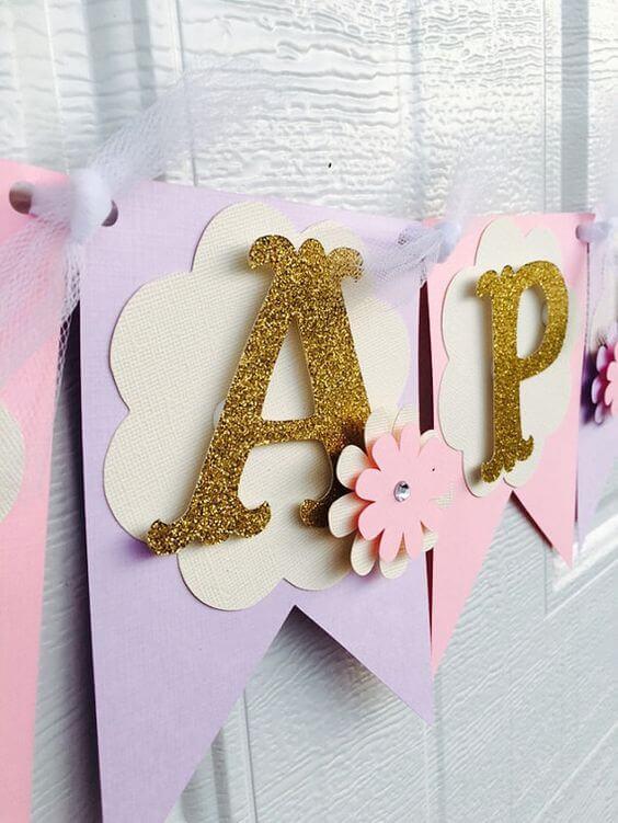 letras simples decorada