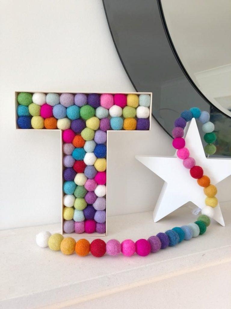 decoração com letras