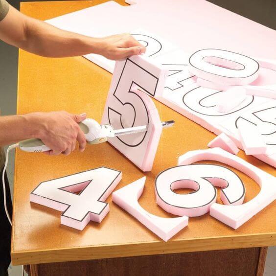 cortando letras decorativas