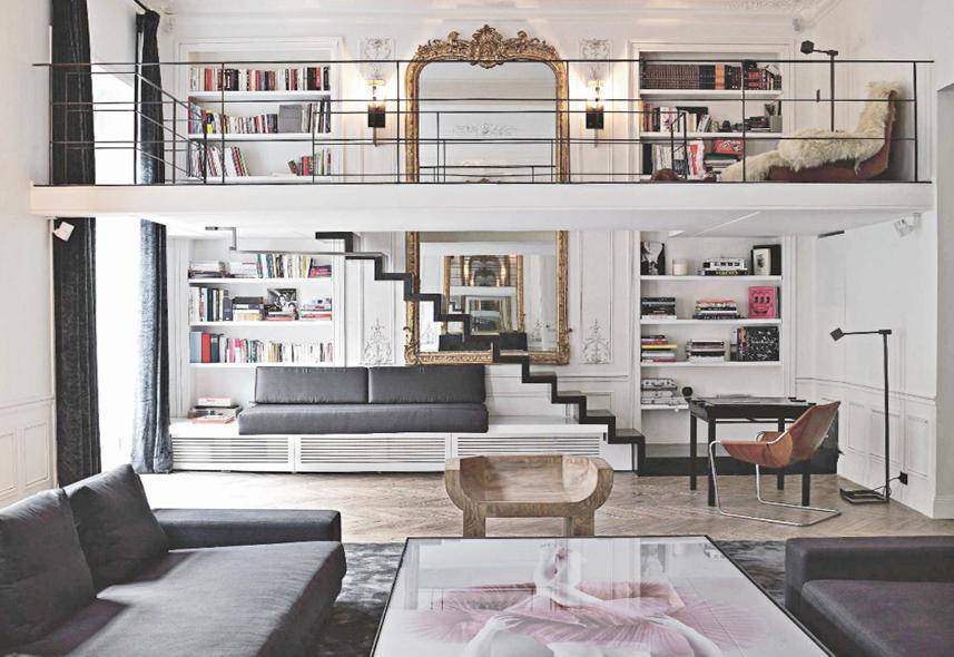 loft clássico decorado