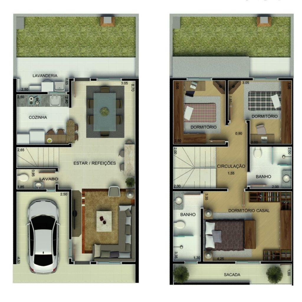 casa com 2 pavimentos