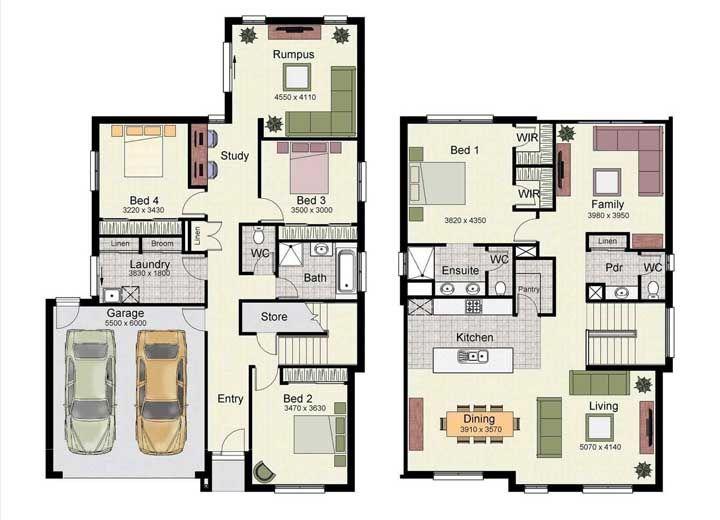planta residencial simples