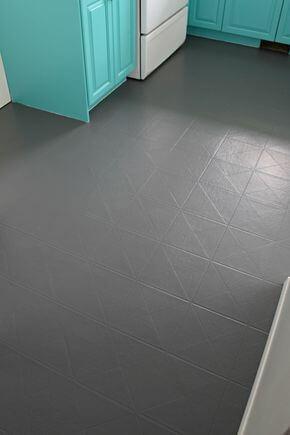 piso pintado no chão