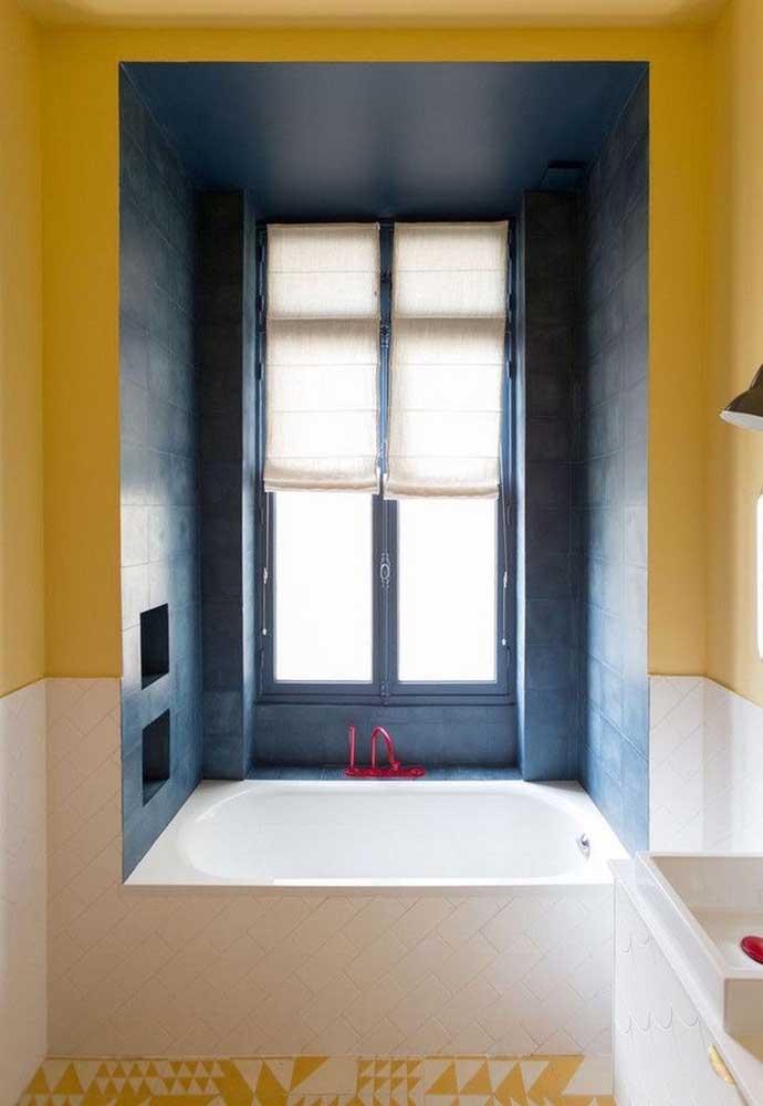 banheiro com pintura