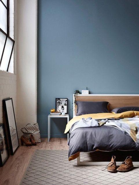 quarto azul acinzentado