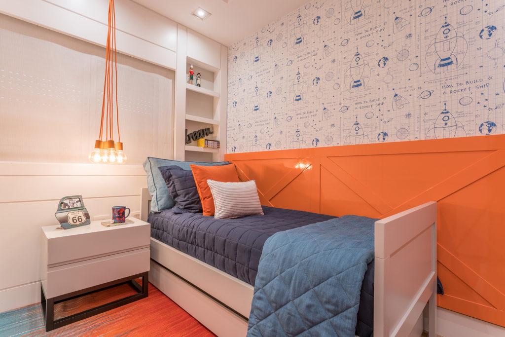 azul e laranja para decorar