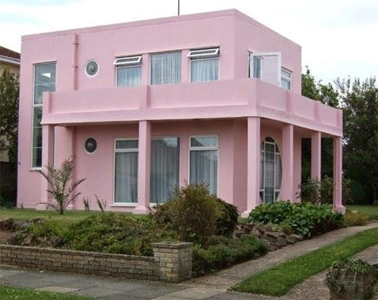 casa rosa claro