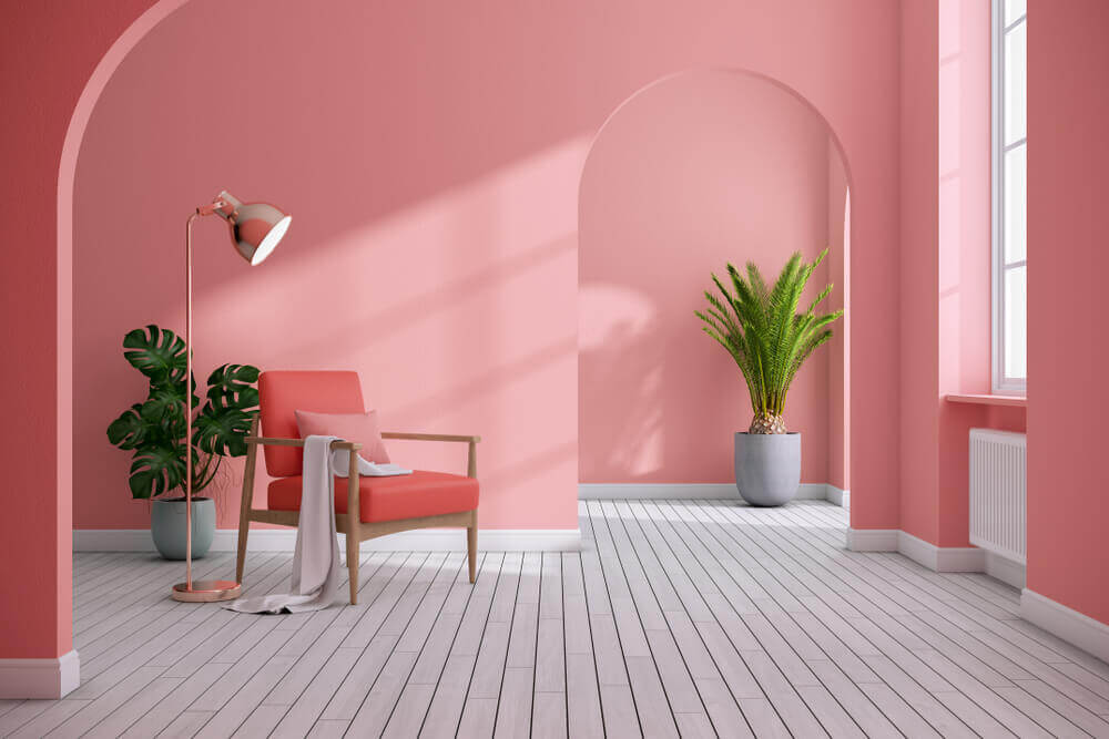 sala com decoração monocromatica