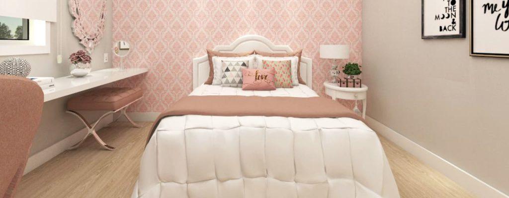 modelo de quarto romantico
