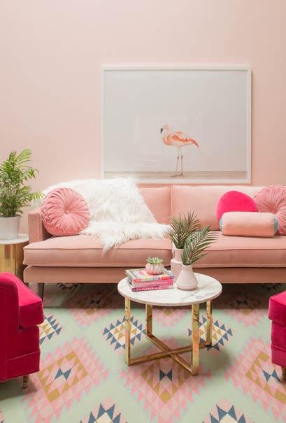 sala rosa flamingo