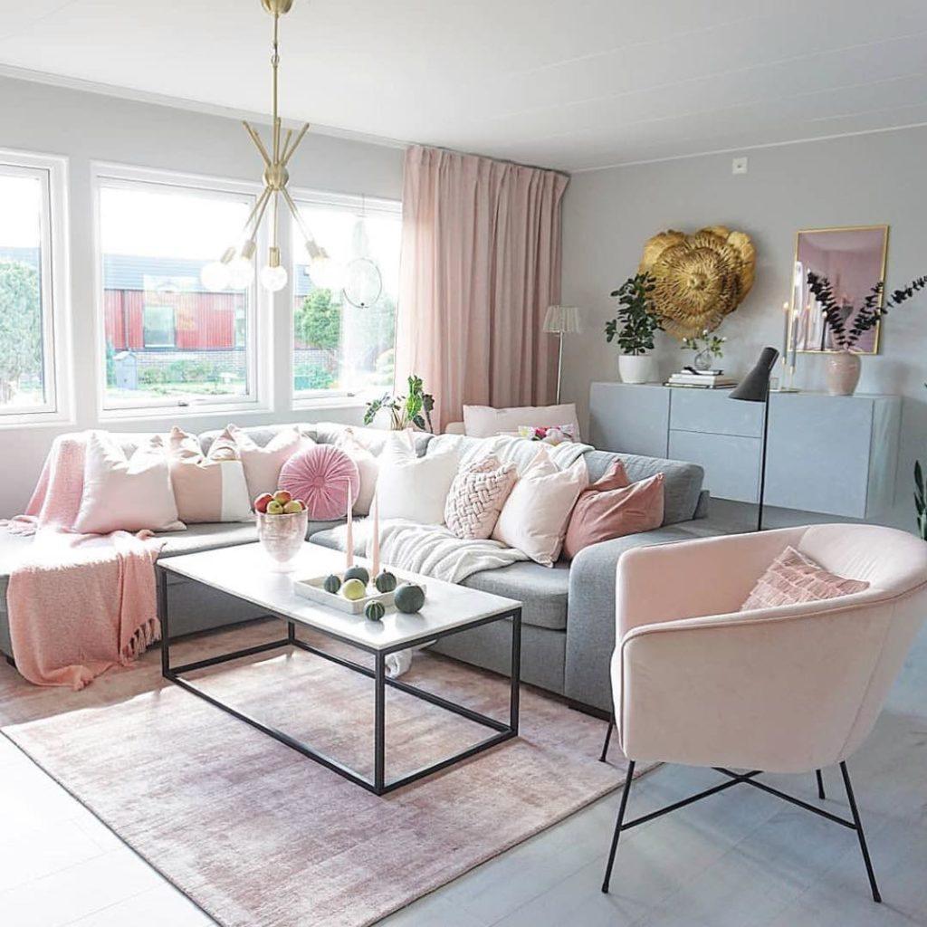 sala com decoração