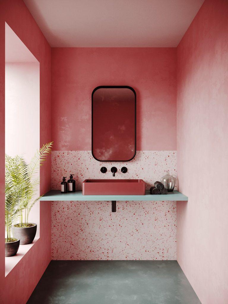 lavabo com decoração