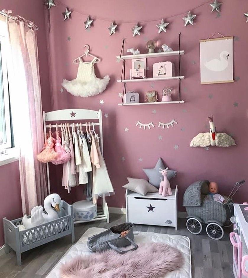 quarto cinza e rosa