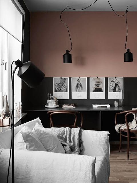 rosa e preto