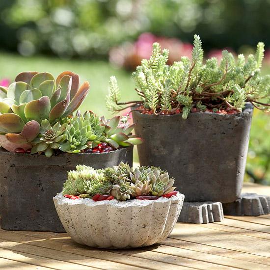 jardim com decoração